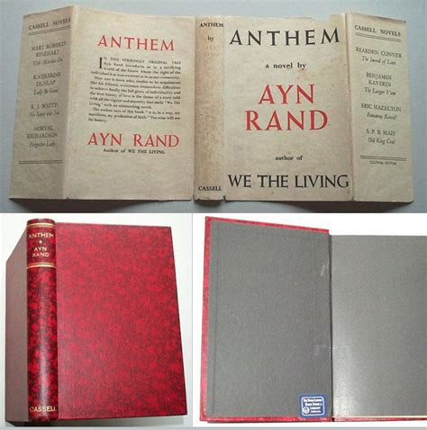 Anthem Ayn Rand Essay by Anthem By Ayn Rand 1st Edition 1938 From Tbcl The Book Collector S Library And Biblio