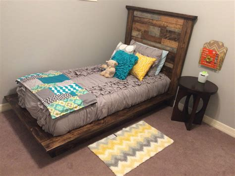 diy twin platform bed diy platform bed headboard twin shanty 2 chic