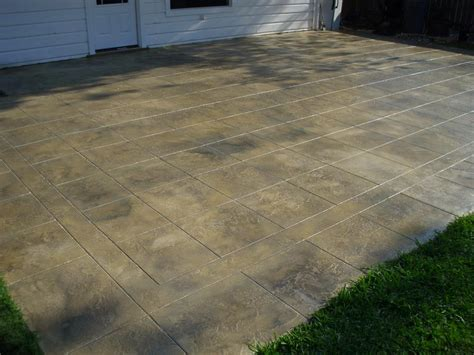 concrete patio overlay from solid impressions abilene