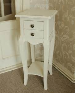 Tall Narrow Nightstand Small Cream 2 Drawer Bedside Table Melody Maison 174