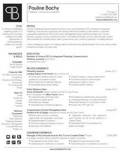 Marketing Communications Specialist Sle Resume by Pauline Bachy Resume Marketing Communications Specialist Seeking Employment
