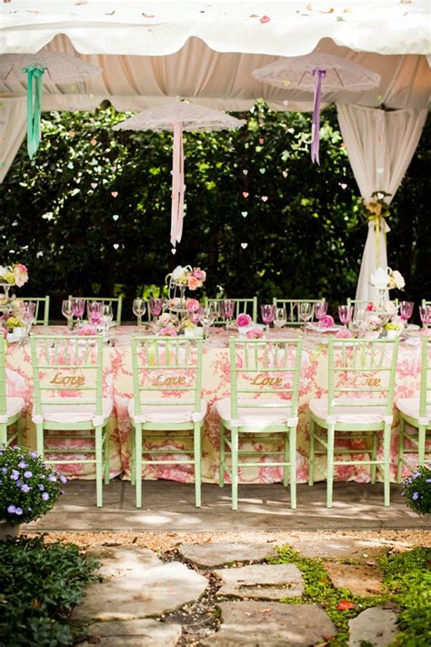 Tea Bridal Shower Ideas by Outdoor Vintage Lace Tea Bridal Shower Bridal