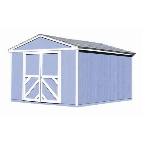 handy home products somerset 10 ft x 14 ft wood storage