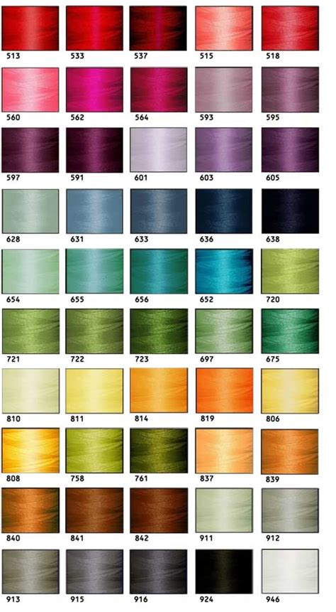 fifties colors 50 polyester embroidery threads threadelight