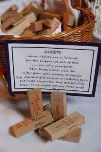 unique wedding idea jenga guest book diy