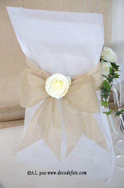 housses de chaise blanc mariage wedding  wedding shabby chic