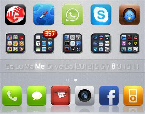 Calendar Widget Iphone Springboard Calendar Widget For Iphone 4 4s Ios 5 By