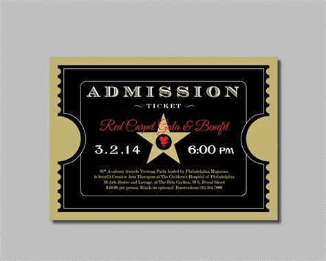 41 Inspiring Templates of Admission Ticket : Thogati