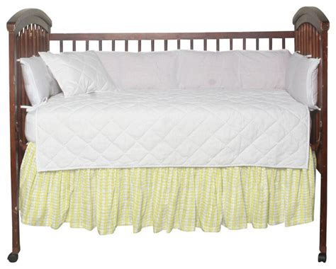 White Crib Dust Ruffle by Half White With Light Yellow Fabric Dust Ruffle Crib
