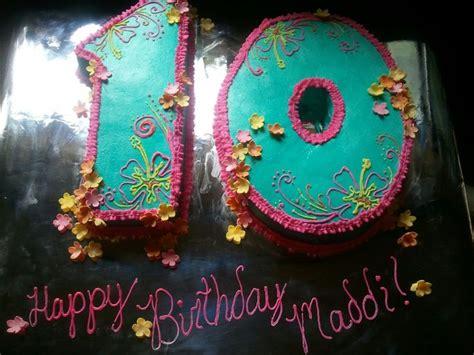 hawaiian theme 10th birthday cake cakes pinterest 10th birthday cakes hawaiian theme