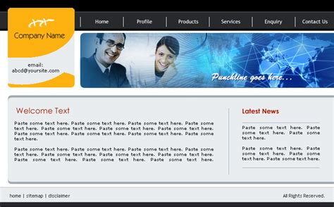 business web design homepage business website template 6