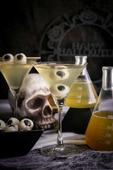 martini eyeball drink recipes for halloween spooky cocktails for a party