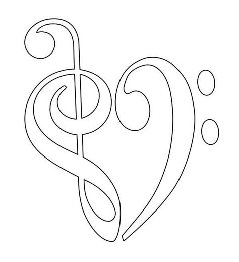 music scale coloring pages colouring bass clefs clefs clipart best