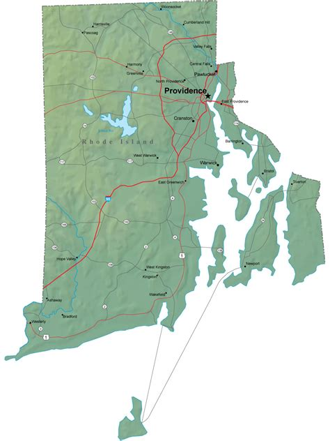 map of ri detailed rhode island map ri terrain map