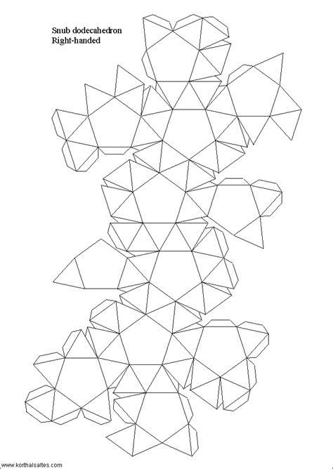 Paper Snub Dodecahedron - paper snub dodecahedron