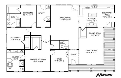 clayton mobile homes floor plans and prices triple wide interactive floorplan the norris triple nsc45723a
