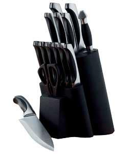 Cashback Viners Naxos 14 Piece Knife Block Set Black