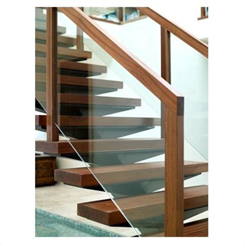 Wood And Glass Banister by Wood Stair Details On Gap Interiors Detail Of Modern