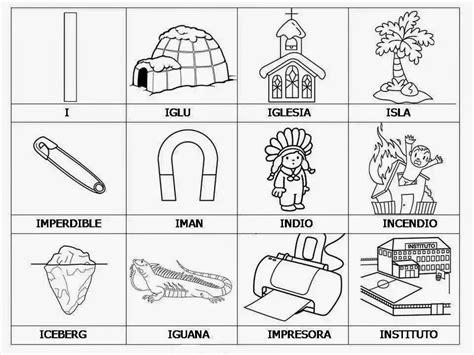 imagenes de palabras que empiecen con i cosas con la letra i animales y cosas material para