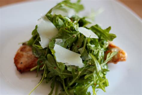 roast chicken with bread arugula salad from make it ahead by ina with some nice french bread this is a whole meal roasting