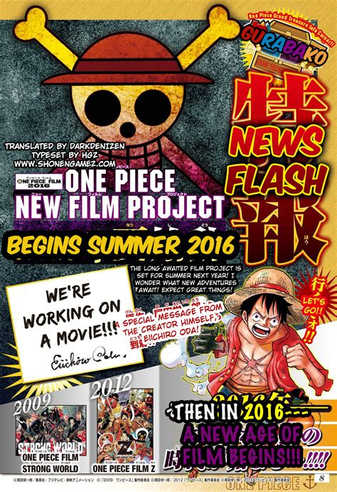 film one piece new new one piece movie expected in 2016 eiichiro oda