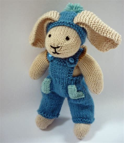 knitted rabbit mack and mabel free knitting pattern for rabbit trousers