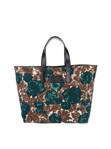 Dg Dolce And Gabbana Floral Canvas Satchel by Dolce Gabbana Floral Tote Bag In Green Lyst