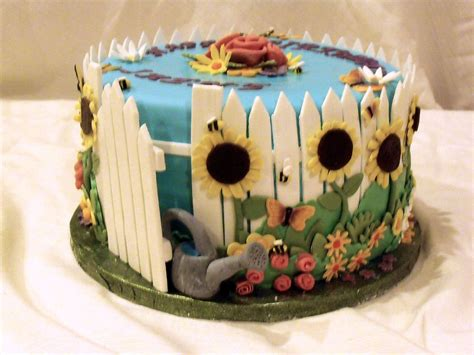 Garden Cake Cake Decorating Community Cakes We Bake Flower Garden Cake Ideas