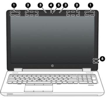 hp elitebook 850 g1 notebook pc identifying components