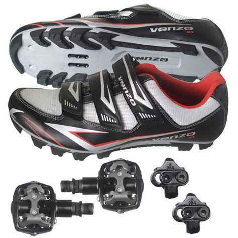 mountain bike shoes and pedals buy venzo mountain bike bicycle cycling shimano spd shoes