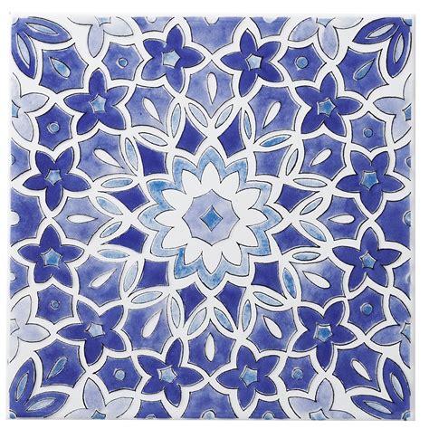 blue and white ceramic l fleur blue ceramic wall tile l 200mm w 200mm
