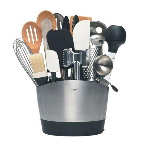 kitchen tools design stainless steel utensil holder oxo
