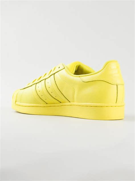 yellow adidas sneakers adidas by pharrell williams superstar supercolour