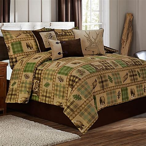 tan bedding set woodland comforter set in tan brown bed bath beyond