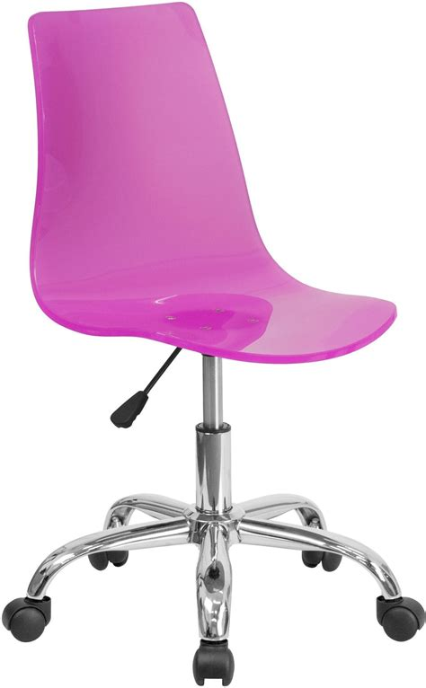 Pink Lucite Chair by Transparent Pink Acrylic Task Chair With