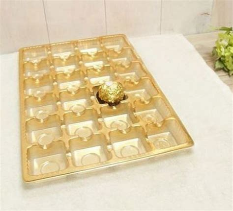 new arrival chocolate packaging box plastic tray for