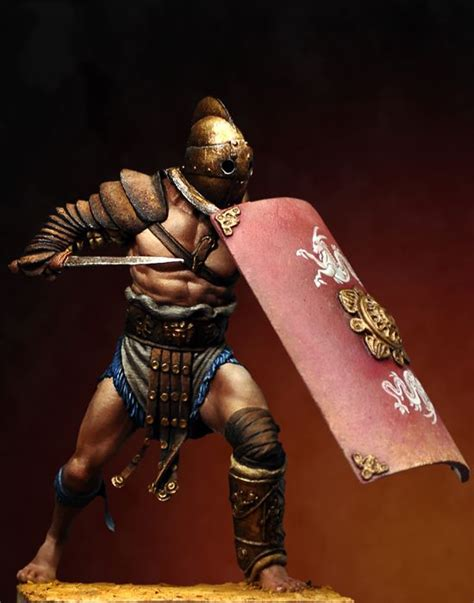 secutor male gladiator 75mm box set gladiators x1 fig