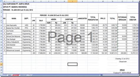 format perhitungan gaji karyawan rianklik slip gaji dengan mail merge ms word 2007