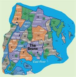 Map Of New York Bronx by Map Of Bronx Neighborhoods
