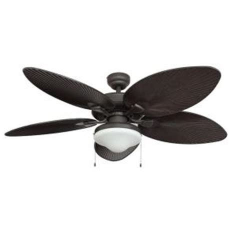 Outdoor Ceiling Fans At Home Depot by Fans Tortola 52 In Outdoor Bronze Ceiling Fan
