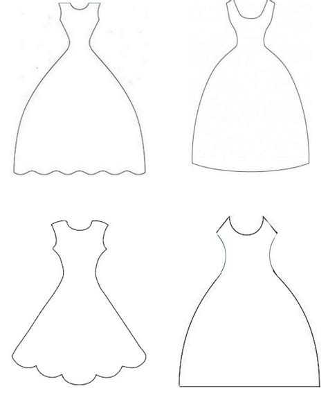 wedding dress template wedding dress template for cards wedding dress