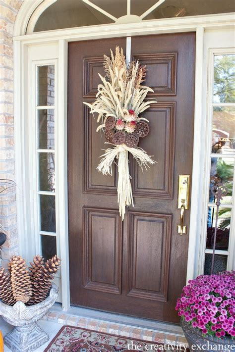 swags for front door easy fall door swag using dried naturals
