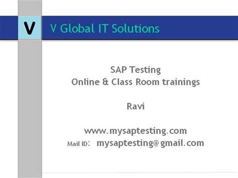 sap testing tutorial ppt sap testing authorstream