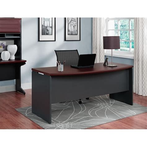 cherry wood executive desk executive desk in cherry and gray 9319196