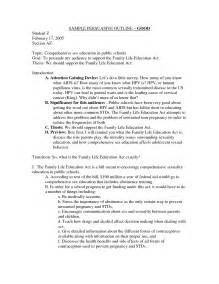 Argumentative Essay Outline Template by Sle Of A Argumentative Essay Outline