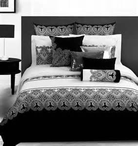 Measurement Of A Queen Size Bed 3d Vintage Noir Et Blanc Paisley Literie Couette Set