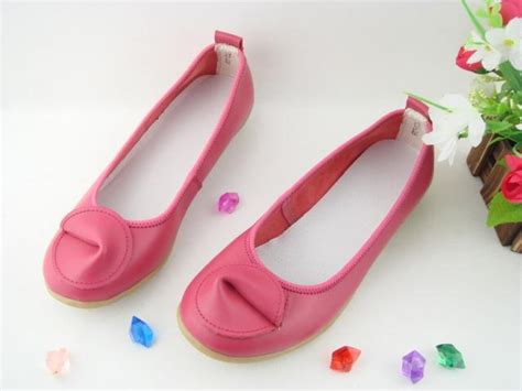 fashion stripe flat shoes baby pink color adworks