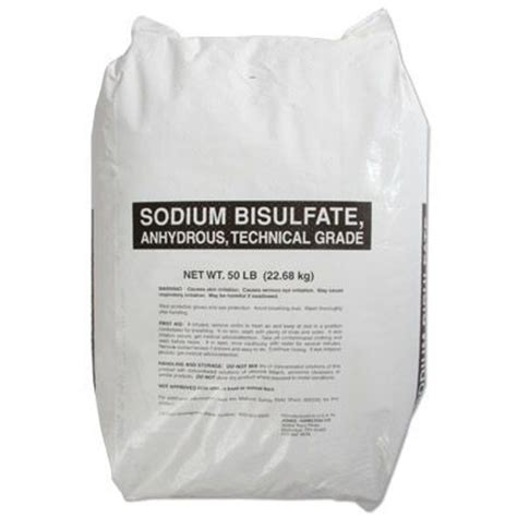sodium bisulfate 50lb bag water treatment chemical supplier ice melt distributor pool