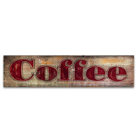 coffee vintage home decor wood sign
