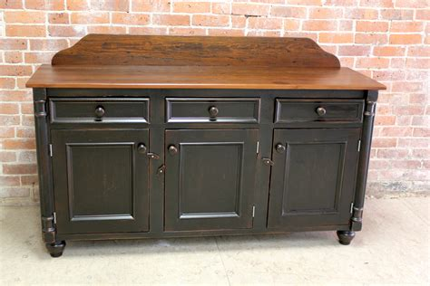 black sideboard with backsplash ecustomfinishes